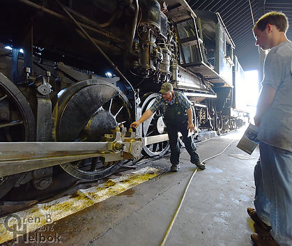 Strasburg Rail Road hostling tour with Anthony DeBellis, in the enginehouse