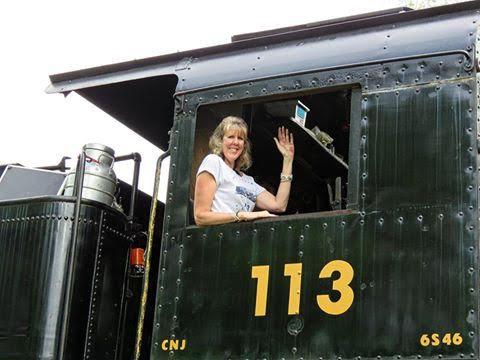 Railway Restoration Project 113's 0-6-0 C.N.J. #113 with Krista Hertz at Schuylkill Haven