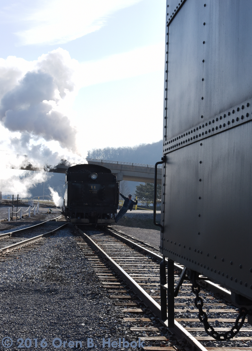 Backing onto train, Hollidaysburg