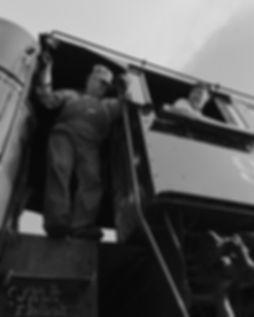 Strasburg Rail Road #90, fireman Earl Knoob and engineer Darin Esterly
