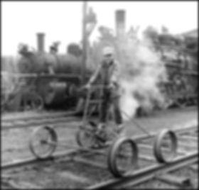 Oren B Helbok, Arcade & Attica Railroad, rail quadricycle