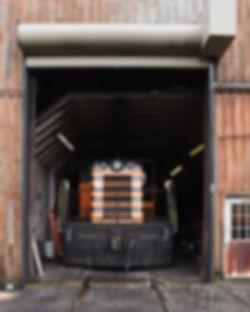 Arcade & Attica Railroad #112 in the enginehouse