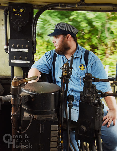 Wilmington & Western Railroad SW1 #114 at Marshallton volunteer engineer Steve Jensen Jr.