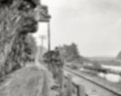 Catawissa Narrows circa 1901, Indian Head, Hanging Rock, Lackawanna Railroad train