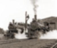 Arcade & Attica Railroad #s 18 and 14, 1972, in a John E. Helbok photo