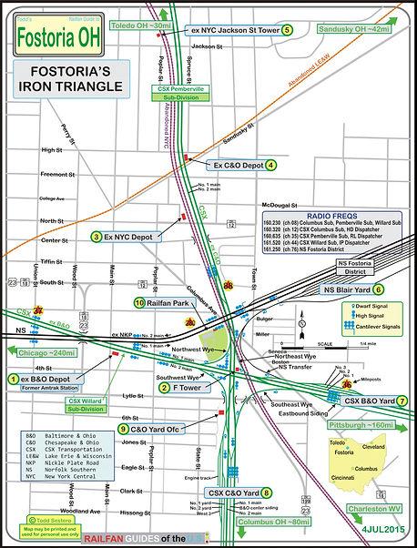 Iron Triangle, Fostoria Ohio, map railfanguides.us