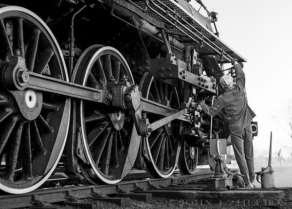 Lloyd Arkinstall at the Black River & Western Railroad, Ringoes, New Jersey, John E. Helbok photo