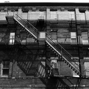 Fire escapes, Howard Street, Homestead, Pa.