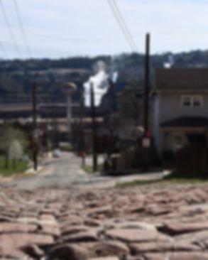 View of U.S. Steel mill from 13th Street, North Braddock, Pa.