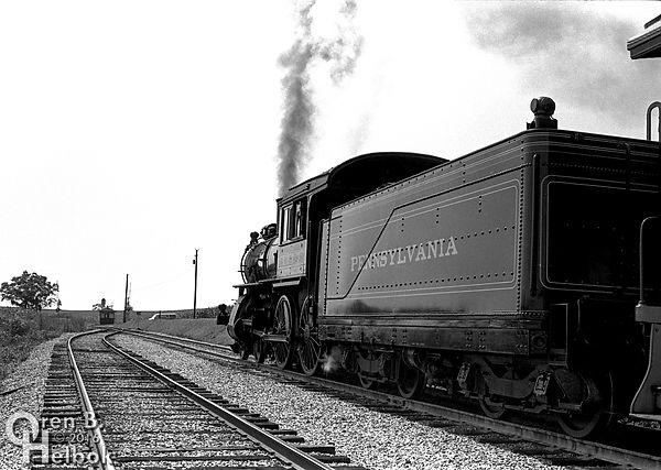 Strasburg Rail Road #1223 at Groff's Grove in 1973, Pennsylvania Railroad D16 4-4-0