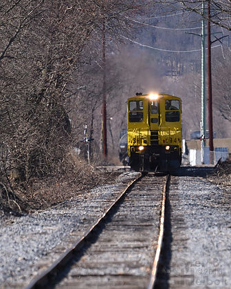 North Shore Railroad Easter Bunny train at Railroad Street in Bloomsburg, Pa.,March 2018