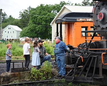 Arcade & Attica Railroad engineer Brad Mapes and #18