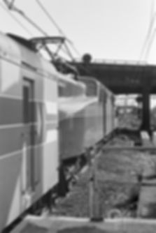 Amtrak ex-Pennsylvania Railroad GG1 4935, Newark Penn Station, 1977, Oren B. Helbok photo