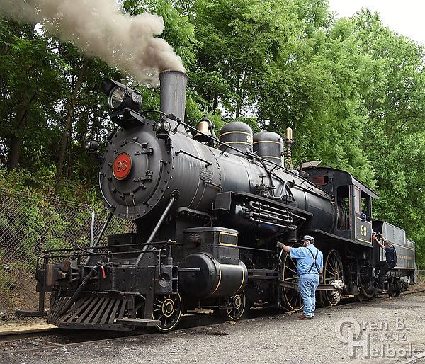 Wilmington & Western Railroad #98 at Marshallton with Steve Jensen Jr. and Donnell Allen
