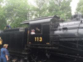 Railway Restoration Project 113's 0-6-0 C.N.J. #113 at Minersville
