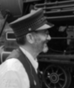 Wilmington & Western Railroad #98 at Marshallton volunteer engineer John LaCosta