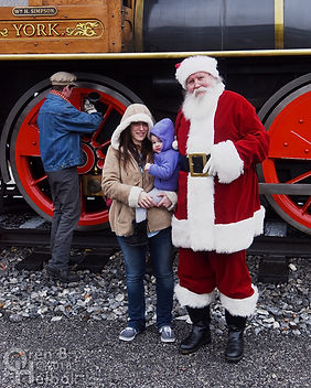 Santa Claus at Steam Into History, New Freedom, Pa.
