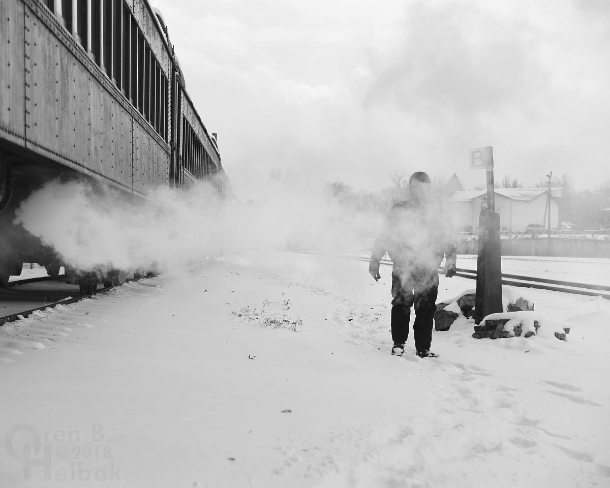 Zach Hall in steam at Hollidaysburg
