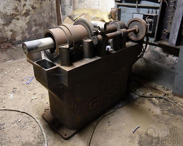 Bloomsburg Pennsylvania Morning Press newspaper printing machine, machinery