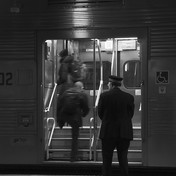 Commuters and conductor