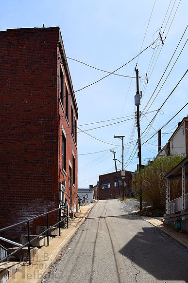 Looking east on Phelan Way, Polish Hill, Pittsburgh