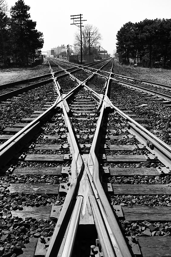Crossing diamonds, Iron Triangle, Fostoria, Ohio, Oren B. Helbok photo