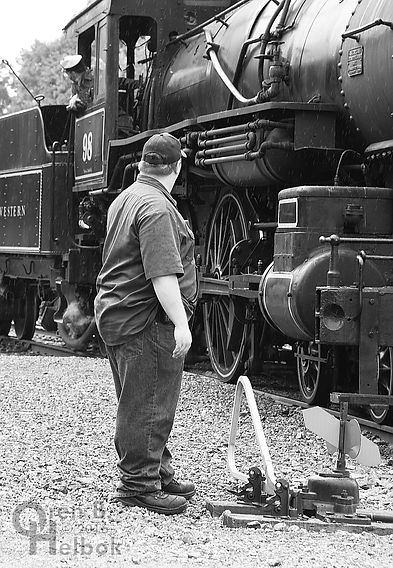 Wilmington & Western Railroad #98 at Marshallton volunteer brakeman