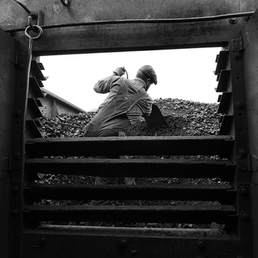 Ross Gochenaur cutting coal