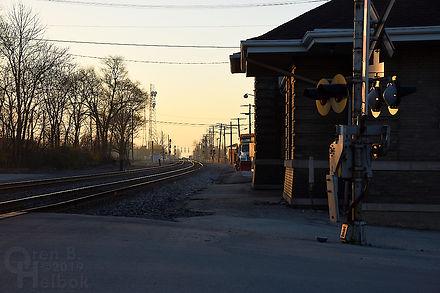 Iron Triangle, B&O depot, Fostoria, Ohio, South Main Street, Oren B. Helbo photo