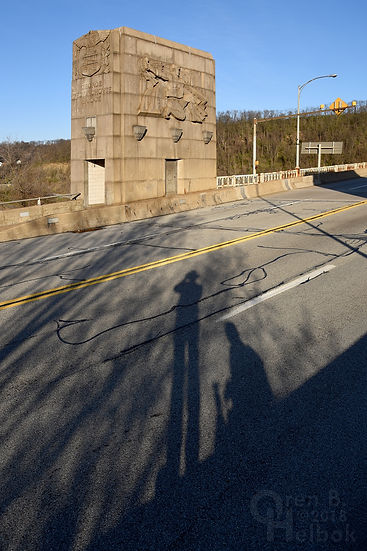 George Westinghouse Bridge, early evening, long shadows