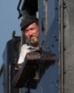 Strasburg Rail Road #90 engineer Darin Esterly