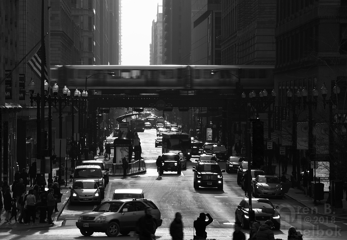 Chicago L over Washington Street