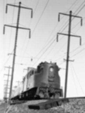 Amtrak GG1 westbound, Portal Draw, Kearney, New Jersey, 1977, Oren B. Helbok photo