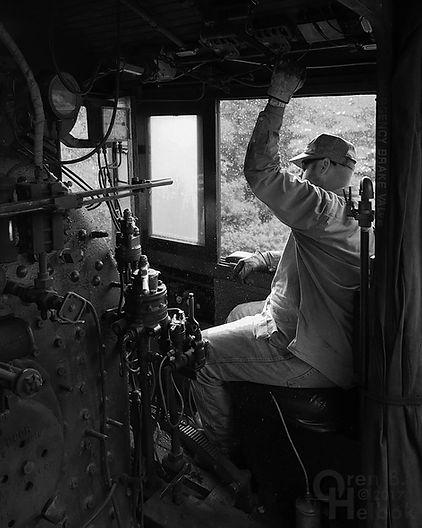 Everett Railroad #11 engineer Jason Lamb