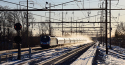 Northbound Amtrak Regional at Rahway