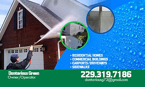 GREENS PRESSURE WASHING BUSINESS CARD BA