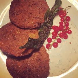 Fried green tomatoes _thevegchef #vegolu