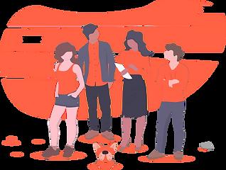 Cartoon Gruppe von Leuten
