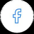 Facebook Icon mit weißem Hintergrund