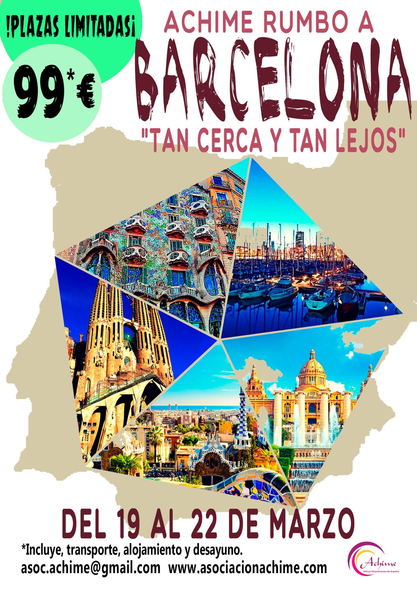 Achime rumbo a Barcelona