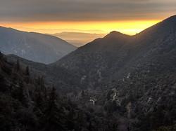 Sunset from Angelus Oaks Photo by Samuel