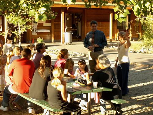 Outdoor Class at Fallsvale School