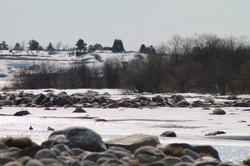 Заснеженный апрельский берег