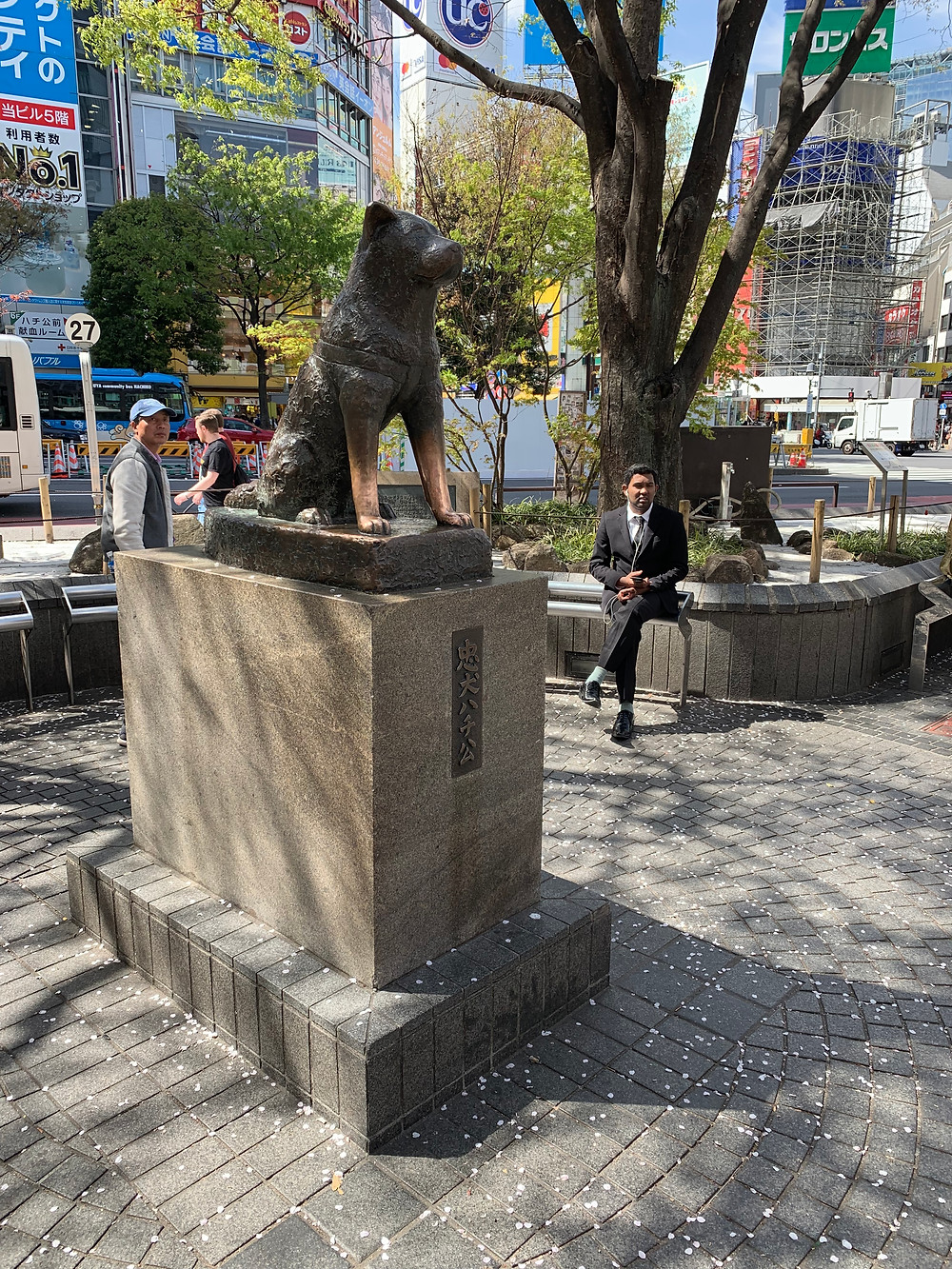Statue of Hachiko at Shibuya station