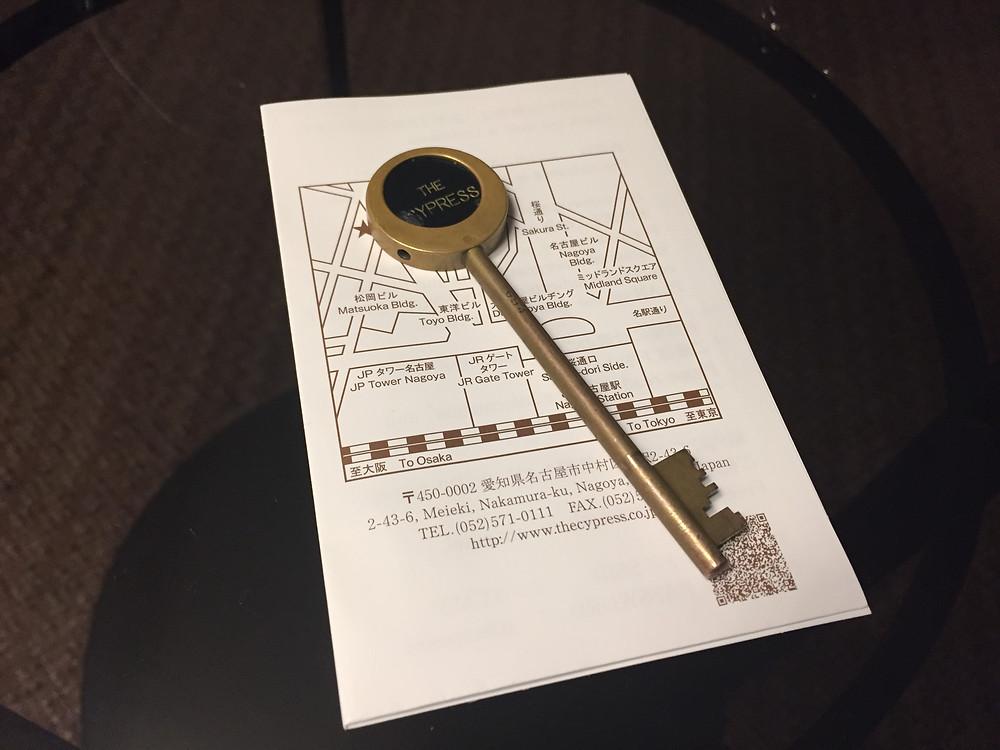 Room key of Hotel Mercure The Cypress Nagoya