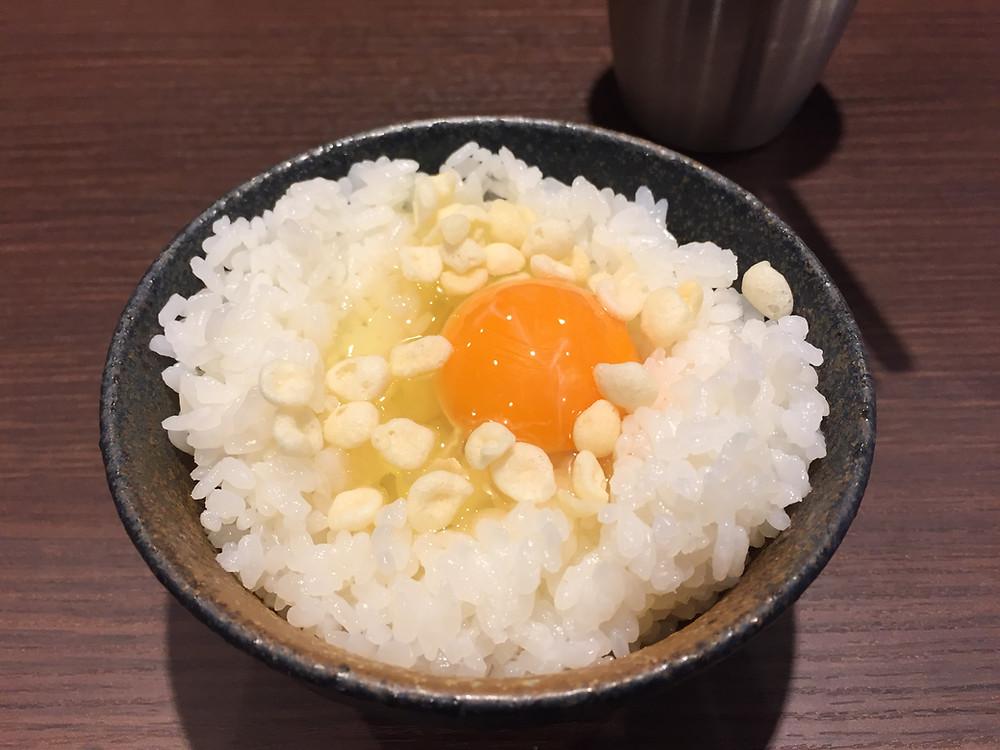 Raw egg on rice - Aburayama