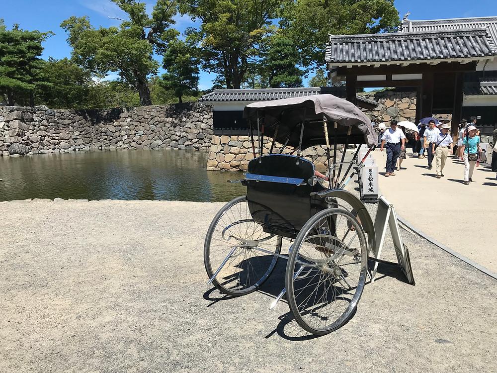Pulled rickshaw at Matsumoto castle