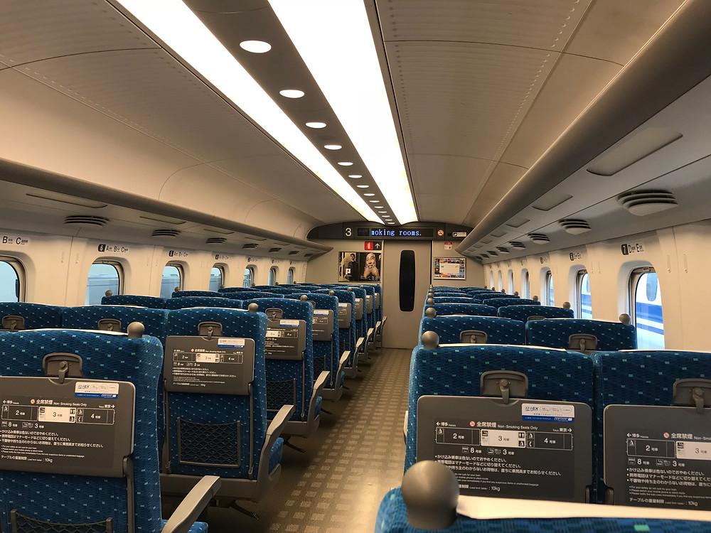 Inside Tokaido Shinkansen