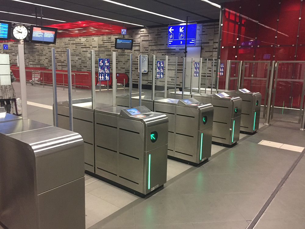 Turnstile at Brussles airport