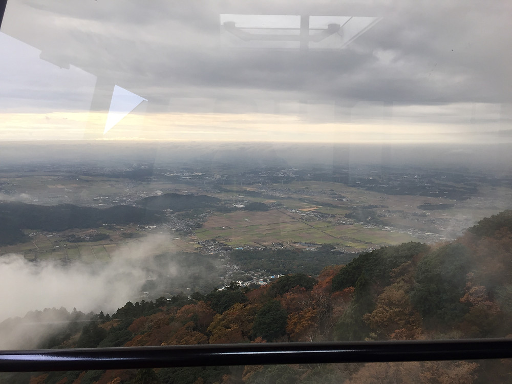 View from aeria tramway at Mt.Tsukuba